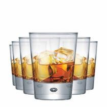 Jogo Copos Whisky Strange On The Rocks Vidro 275ml 6 Pcs - Ruvolo