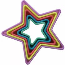 Jogo Cortador Estrela 5 Peças Biscoitos E Forma Americana - Zanline
