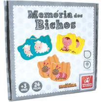 Jogo da Memoria Animais em Madeira - Planeta Criança