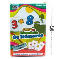 Jogo da Memória com Números 32 Cartas PT/ING UN -