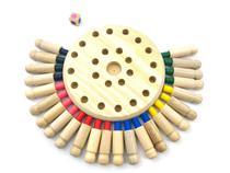 Jogo Da Memória Das Cores Com Pinos Em Madeira - Elefante Colorido Brinquedos Educativos
