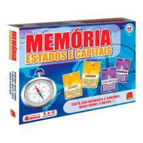 Jogo da Memória Estados e Capitais - Novo Mundo -