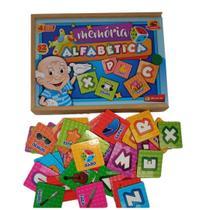 Jogo da Memória Infantil Letras e Figuras Maninho - Maninho Artesanatos