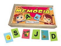 Jogo da Memória Letras e Figuras - Brinquedo Educativo 4 anos - Simque -