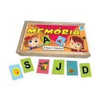 Jogo da Memória Letras e Figuras em Madeira - Simque -
