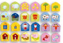 Jogo Da Memória Opostos Da Fazenda 24 Peças Em Madeira Brincadeira De Criança -
