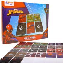 Jogo da Memória Spider-man Educativo 26 Cartas Marvel -