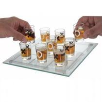 Jogo Da Velha Shot Drink Vidro 9 Copos 10 Ml Tabuleiro Vidro - Clink
