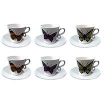 Jogo de 12 peças para café Coffee Time em porcelana 90 ml Dynasty -