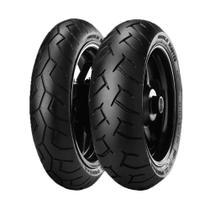 Jogo de 2 Pneus de Moto Pirelli Diablo Scooter 90/90-14 46P TL + 100/90-14 57P TL -