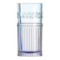 Jogo de 6 copos altos Republic em vidro 360ml A15cm cor furta cor - L Hermitage