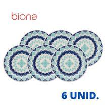 Jogo De 6 Pratos Sobremesa Cerâmica 19 Cm Oxford Donna Lola - BIONA DONNA