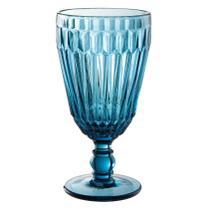 Jogo de 6 tacas Bretagne em vidro 330ml A17cm cor azul - L Hermitage