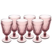 Jogo de 6 tacas Bretagne em vidro 330ml A17cm cor roxa - L Hermitage