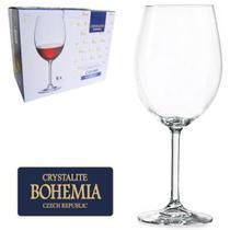 Jogo de 6 Taças Cristal Bohemia para Vinho Tinto 450ml -