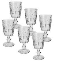 Jogo de 6 taças para água de vidro tropical - lyor - Niazi
