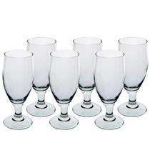 Jogo de 6 tacas para cerveja Dunkel em vidro temperado 280ml A16,5cm - Vicrila