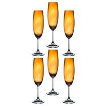 Jogo de 6 taças para champanhe anna ambar 220 ml - Bohemia