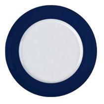 Jogo de 6un Pratos Rasos Versa Azul Marinho 27,5cm Porcelana Germer -