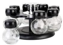 Jogo de  8 peças Porta Condimentos em vidro c/sup de plastico- Dynasty -
