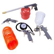 Jogo de acessórios pneumáticos p/Compressor Tanque Alto 5730455 - Stels 5 peças -