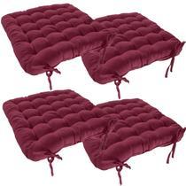 Jogo De Almofada Futton Para Cadeira/assento 4 Unidades - Couro Cor & Cia