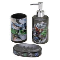 Jogo de Banheiro 3 peças Marvel Avengers -