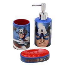 Jogo de Banheiro 3 peças Marvel Capitão América -