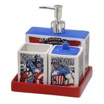 Jogo de Banheiro 4 peças Marvel Capitão América -