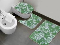Jogo de Banheiro Alvorada Verde 3 Unidades - Vida Pratika