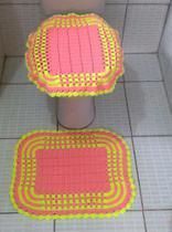 Jogo de Banheiro Dual Color 2 peças em Crochê - Belly Crochê