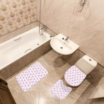 Jogo de Banheiro Estrela do Mar Rosa - Mdecore