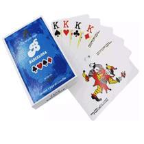Jogo De Baralho Azul 54 Cartas Em Plastico - Barcelona