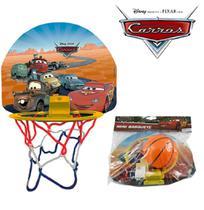 Jogo de basquete mini carros com tabela + aro + bola - Etitoys