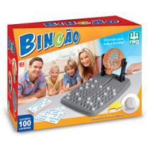 Jogo De Bingo Bingão C/ 100 Cartelas E Globo Giratório - Nig -