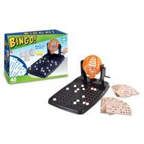 Jogo de bingo com 140 peças divertidas 48 cartelas e globo - Nig
