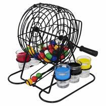 Jogo de Bingo com Copos Shot 48 Bolas Coloridas FNG6620 - Riomaster