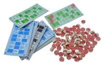 Jogo De Bingo Familiar 48 Cartelas 90 Pedras Em Madeira - NS