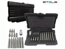 Jogo de Bits Torx Sextavado 1/2 CRV 10mm 15 Pçs 11315 Stels -