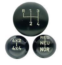 Jogo de bola de câmbio clark 4 marchas 4x4 red com indicação preta jeep rural f-75 - Kits Casa Aventura