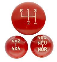 Jogo de bola de câmbio clark 4 marchas 4x4 red com indicação vermelha jeep rural f-75 - Kits Casa Aventura