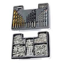 Jogo de brocas bits e buchas com 300 peças - Mtx