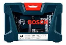 Jogo De Brocas E Bits Ferramentas V-line 41 Peças Bosch -