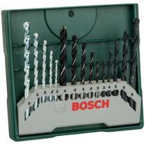 Jogo de Brocas Mini X Line com 15 brocas Bosch -