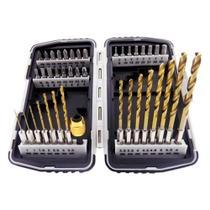 Jogo de Brocas para Metal de 1 à 6 MM + Bits e Adaptador com 40 Peças MTX -