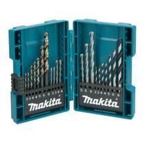 Jogo de Brocas para Metal, Madeira e Concreto com 21 Peças Makita B-44884 -