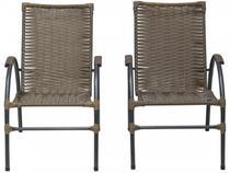 Jogo de Cadeiras para Área Externa Famais Onix - 2 Peças
