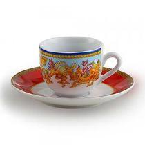 Jogo de Café com Xícara e Píres Baeza de Porcelana 90 ml - Decorafast