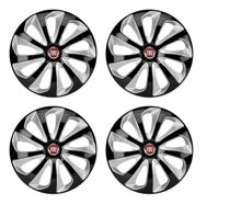 Jogo De Calota Velox Aro 13  Black Silver Fiat Uno Vivace - Elitte