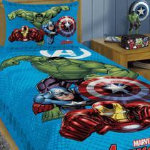Jogo De Cama 2 Pçs Infantil Avengers Vingadores Herois - Lepper